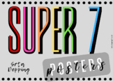 Spanish Super 7 Verbs Posters (Rainbow Edition)