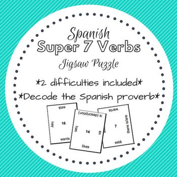 Spanish Super 7 Verbs Puzzle