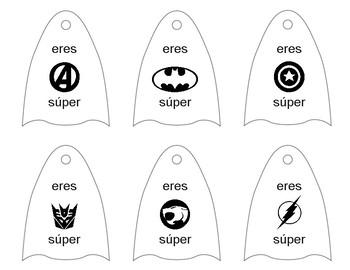 Spanish Super Hero Lollipop Capes