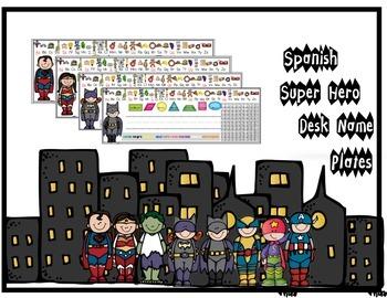 Spanish Super Hero Nameplates