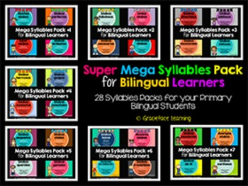 Spanish - Super Mega Syllables Pack for Bilingual Learners