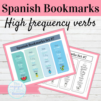 Spanish High Frequency Verbs Bookmarks