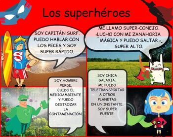 Spanish Superheroes Lesson Pack