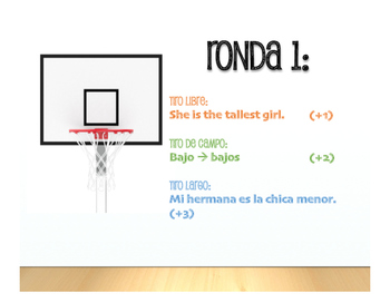 Spanish Superlatives Basketball