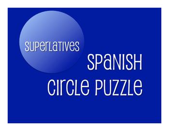 Spanish Superlatives Circle Puzzle