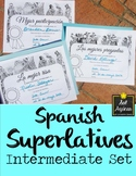 Spanish Superlatives End of Year Award Certificates - Posa