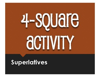 Spanish Superlatives Four Square Activity