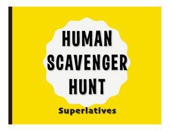 Spanish Superlatives Human Scavenger Hunt