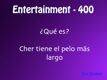 Spanish Superlatives Jeopardy-Style Review Game