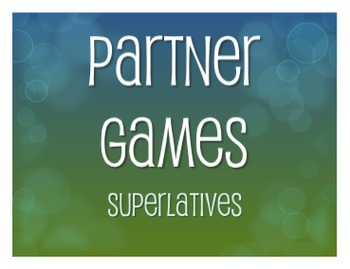 Spanish Superlatives Partner Games