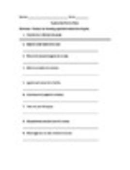 Spanish Superlatives Worksheets Practice Set