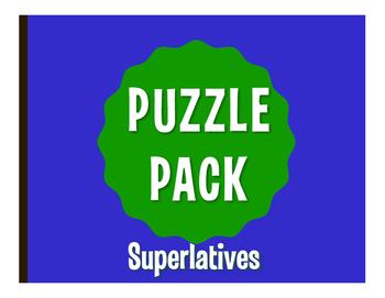 Spanish Superlatives Puzzle Pack