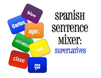 Spanish Superlatives Sentence Mixer