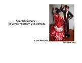 Spanish Survey - Gustar and Food Items