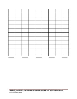 Spanish Surveying and Graph Worksheet