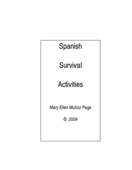 Spanish Survival Activities