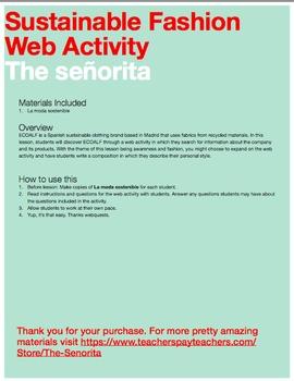 Spanish Sustainable Fashion Web Activity