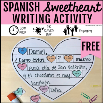 Spanish Sweetheart Writing Activity