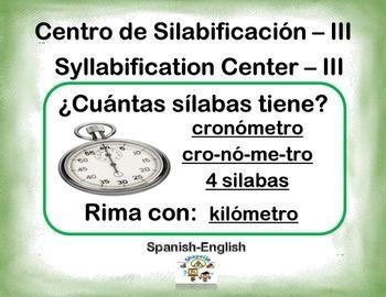 Spanish Syllabification - III / Silabificacion de Palabras - III in a Station