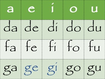 Spanish Syllable Activities/Actividades de sílabas