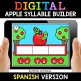 Spanish Syllable Apple Word Work for Google Classroom 2 -