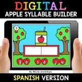 Spanish Syllable Apple Word Work for Google Classroom - Di