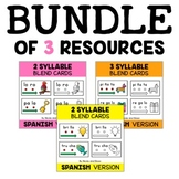 Spanish Syllable Blend Cards Bundle