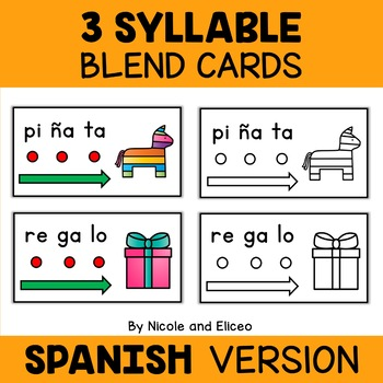 Spanish Syllable Blend Cards Bundle