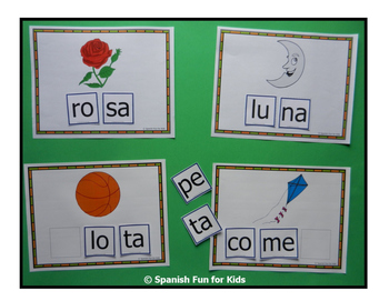 Spanish Syllable Cards