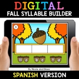 Spanish Syllable Fall Word Work for Google Classroom 2 - D