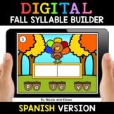 Spanish Syllable Fall Word Work for Google Classroom - Dis