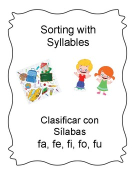 Spanish Syllable Ff Word Sort