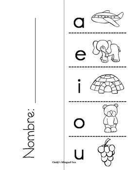 Spanish Syllable Flipbook Packet