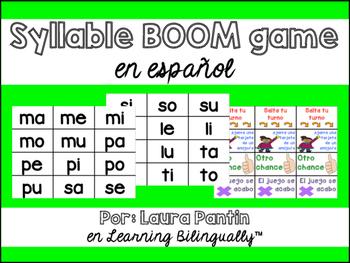 Spanish Syllable Game