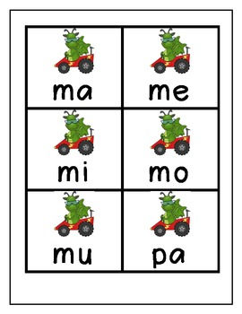 Spanish Syllable Game (Juego de Silabas Parte 1)
