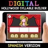 Spanish Syllable Hollywood Word Work for Google Classroom