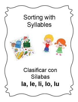 Spanish Syllable Ll Word Sort