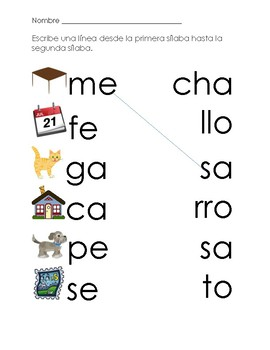 Spanish Syllable Match