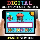 Spanish Syllable Ocean Word Work for Google Classroom 2 -