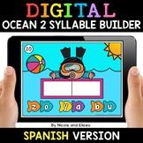 Spanish Syllable Ocean Word Work for Google Classroom - Di