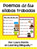 Spanish Syllable Poems: Silabas Trabadas