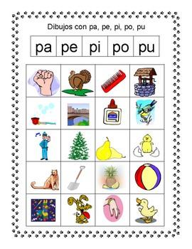 Spanish Syllable Pp Word Sorts