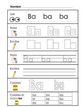Spanish Syllable Practice Bundle 2