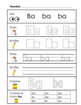 Spanish Syllable Practice Bundle 2