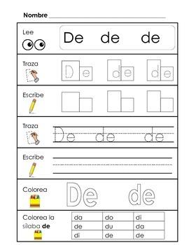 Spanish Syllable Practice - da de di do du