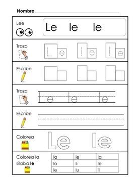 Spanish Syllable Practice - la le li lo lu
