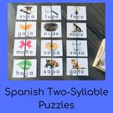 Spanish Syllable Puzzles (Montessori)