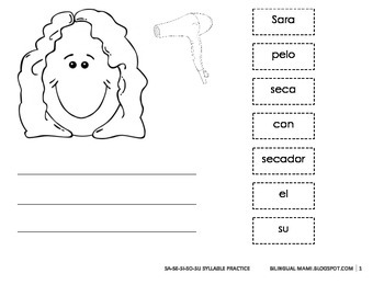 Spanish Syllable Sa-se-si-so-su