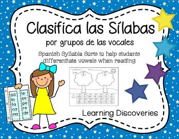 Spanish Syllable Sorts by Vowel Groups - Clasifica Sílabas por Vocales