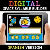 Spanish Syllable Space Word Work for Google Classroom 2 -